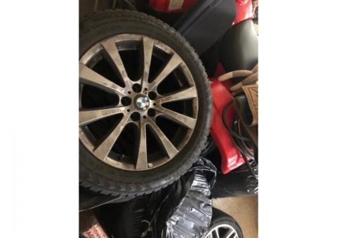 Four BMW X-5 Studded Snow Tires with Rims