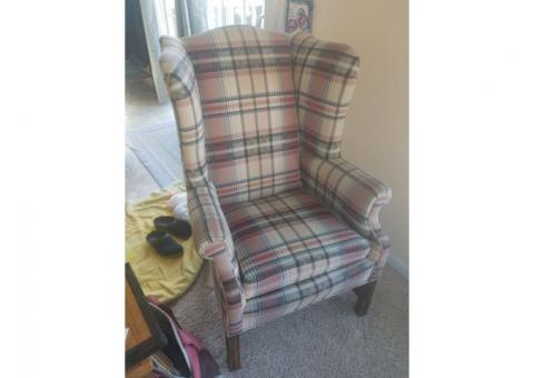 Very comfortable wing back chair