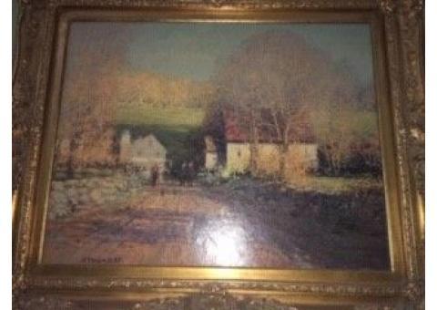 """John C. Terelak - """"Back Roads"""" 22.5""""w x 29.5""""h Oil on Canvas Print."""