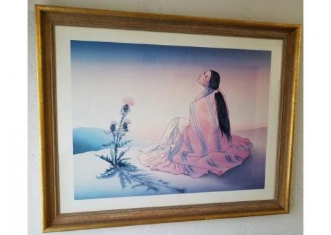 """RC Gorman Lithograph """"Navajo Dawn"""" signed by the artist"""